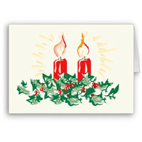 Candle and Ivy Christmas Card