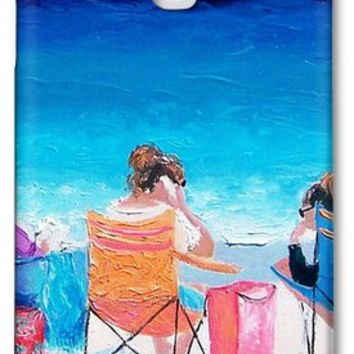 Beach Painting 'Girl friends' by Jan Matson Samsung Galaxy S4 Case / Samsung Galaxy S4 Cover for Sale by Jan Matson