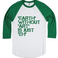 Earth With Art-Unisex White/Evergreen T-Shirt