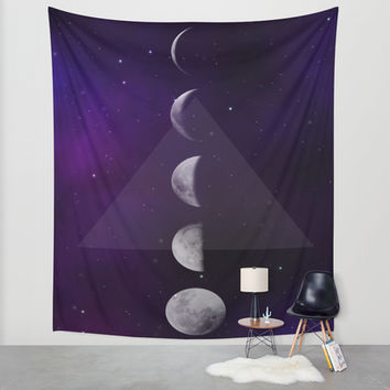 Moon Down Wall Tapestry by DuckyB (Brandi)