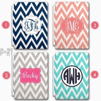 Chevron iPad Mini 3 case Monogram iPad 4 Custom iPad Air 2 Smart Cover