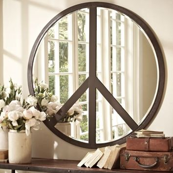 PEACE SIGN MIRROR