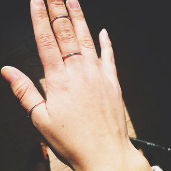 Stackable Above The Knuckle Mid Finger Rings