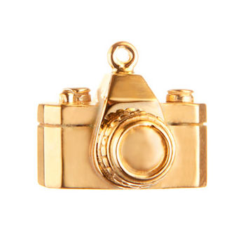 Gold Camera Charm by Altruette- The Envision Foundation