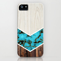 Apple iPhone case. iPhone 5 iPhone 5s iPhone 5c iPhone 4 iPhone 4s iPhone 3gs Samsung Galaxy S5 Galaxy S4. Wood Turquoise Texture Phone Case