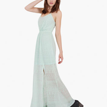 Sweet Whispers Mint Maxi Dress