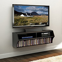 Broadway Black Wall Mounted A/V Console | Overstock.com