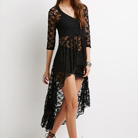 Lace High-Low Top