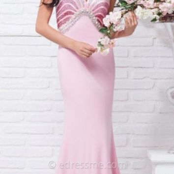 Seashell Empire Prom Gown by Tony Bowls Le Gala