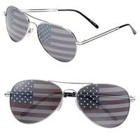 Junior Women's BP. American Flag Aviator Sunglasses