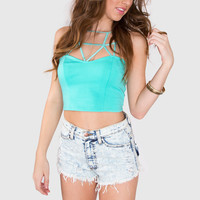 Sanctuary Crop Top - Mint