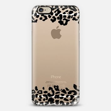 Wild Double Black Leopard Transparent iPhone 6 case by Organic Saturation | Casetify