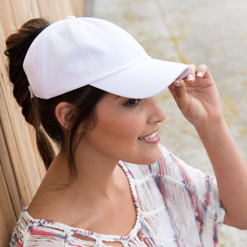 Daffodil Sprinkles - Ponytail Baseball Cap - Wear it two ways (Open Back or Closed Back)!