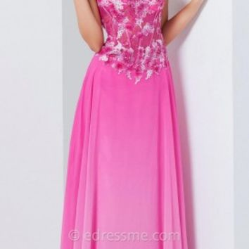 Corset Ombre Skirt Prom Gown by Tony Bowls Le Gala