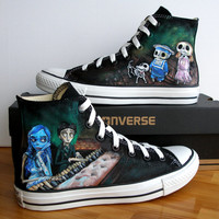 Custom Hand Painted Converse Shoes Corpse Bride Any size, color, character and design