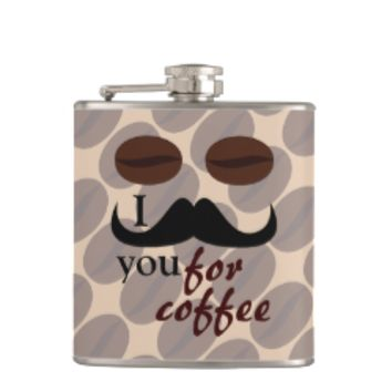 Cool I mustache you for coffee Flask
