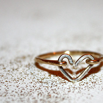 lacerta - heart ring by lilla stjarna - gifts under 50 - sterling silver heart ring - gold heart ring - wedding ring - gift ring