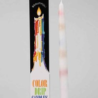 Color-Drip Candle - Set Of 2- Multi One