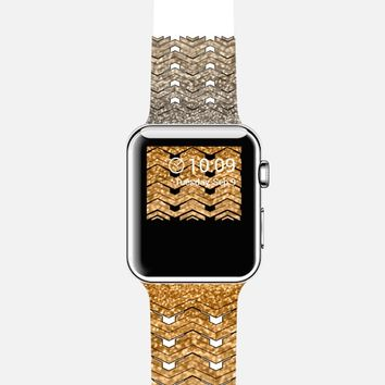 Glitters golden chevron Apple Watch Band case by VanessaGF | Casetify