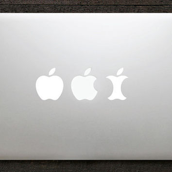 Apple evolution Vinyl Decal for Macbook by geekydecals on Etsy