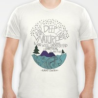 Einstein: Nature T-shirt by Leah Flores | Society6