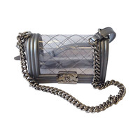 Spring/Summer 2014 Chanel Clear Le Boy with Silver Hardware