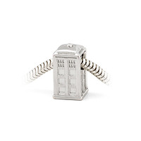 Doctor Who Silver TARDIS Charm Bead - Charm Only