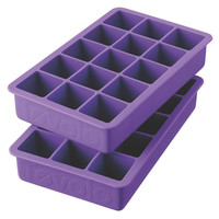 Perfect Cube Ice Cube Trays, Purple, Set of 2, Food Storage Containers