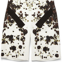 Givenchy - Band-Trimmed Floral-Print Cotton Bermuda Shorts | MR PORTER