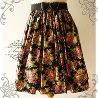 NEW TODAY Vintage Style Handmade Shabby Chic Color Floral Romantic Skirt Mix and Match