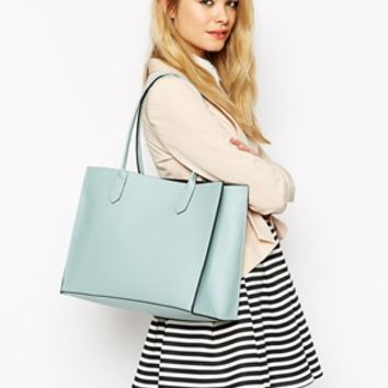 ASOS Structured Shopper Bag with Removable Clutch
