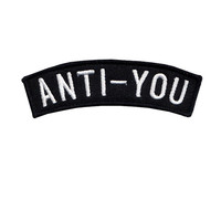 Anti-You embroidered patch