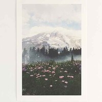 Kevin Russ Mount Rainier Art Print- Blue Multi One