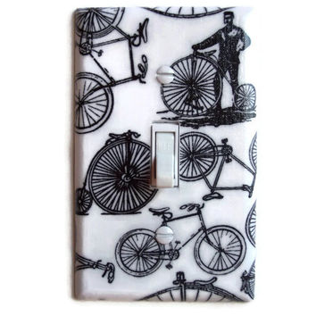 Bicycles Single Toggle Switch Plate, Switch Plate decor