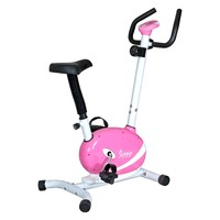 Sunny Health & Fitness Pink Magnetic Upright Exercise Bike | www.hayneedle.com