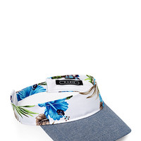Tropical Print Visor White/Blue One