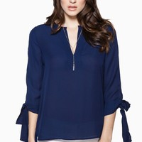 ShopSosie Style : Karlie Blouse in Navy
