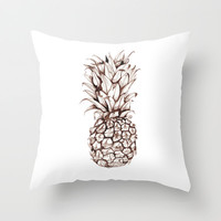 Pineapple Throw Pillow by Turn North Press   Society6