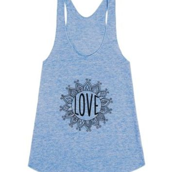 Love-Unisex Athletic Blue Tank