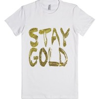 Stay Gold-Female White T-Shirt