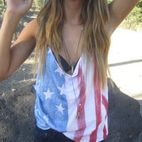 American flag tanktop by yourafever on Etsy