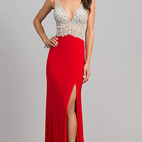 Long Sleeveless Prom Gown by JVN by Jovani