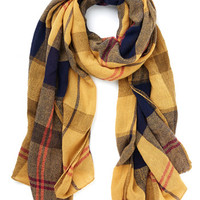 ModCloth Menswear Inspired Academic Aspirations Scarf in Yellow