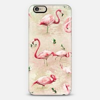 Flamingos - Vintage Pink iPhone 6 case by Lisa Argyropoulos | Casetify