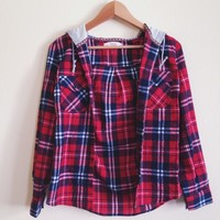 Logan Red Hooded Flannel