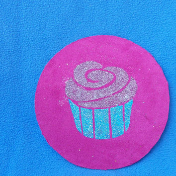 FREE Velvet Painting of Psychedelic CUPCAKE on pink velvet - Pay it Forward - Act of Kindness