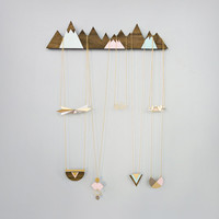 Mountains Jewelry Display, jewelry holder, jewelry hanger, wooden home decor, jewelry display