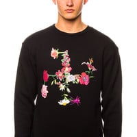 Brian Wood Love Flower Crewneck