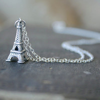 Sterling Eiffel Tower - Simple everyday delicate jewelry