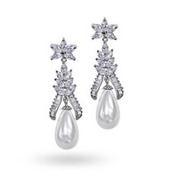 Bling Jewelry Pop of Pearl Earring